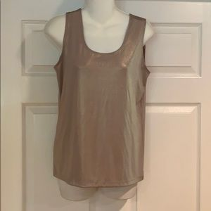 Chico's gold shimmer tank top